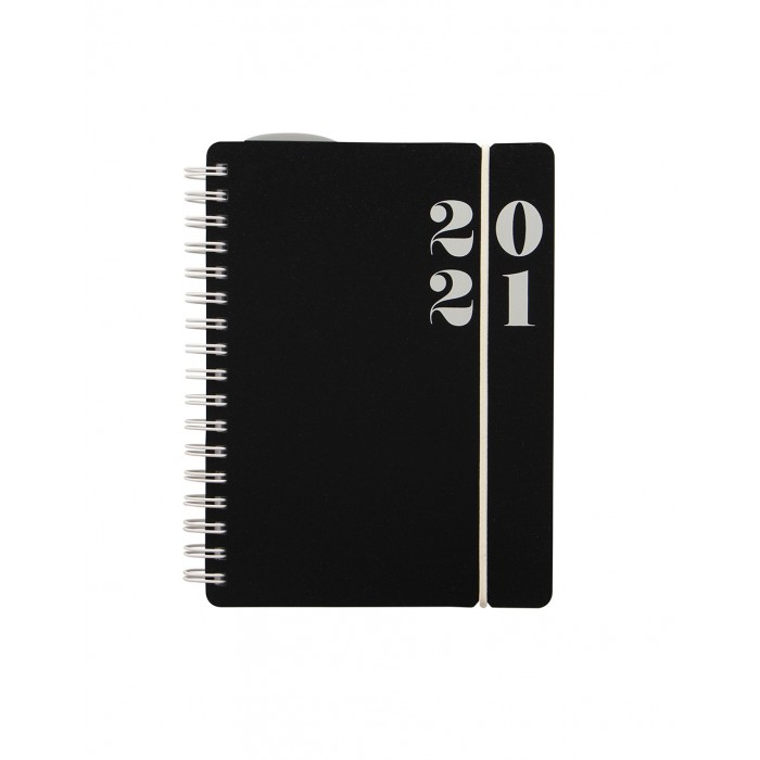 Black A6 Week to View Diary 2020-2021